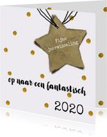 Nieuwjaar 2018 gouden ster