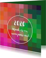 Nieuwjaar kleurig eigen tekst
