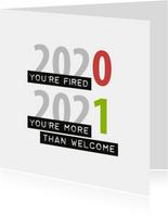 Nieuwjaar You're fired
