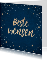 Nieuwjaarskaart beste wensen goud confetti foto