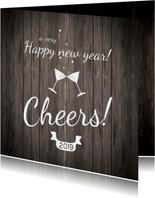 Nieuwjaarskaarten - Nieuwjaarskaart cheers to 2019