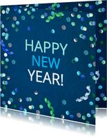 Nieuwjaarskaart confetti