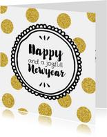 Nieuwjaarskaart een dot goud