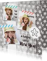 Nieuwjaarskaart foto collage sterren