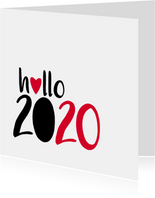nieuwjaarskaart hallo 2020