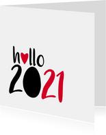nieuwjaarskaart hallo 2021