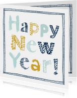 Nieuwjaarskaart handgeschreven letters