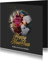 Nieuwjaarskaart happy new year met foto