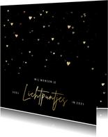 Nieuwjaarskaart - ik wens je veel lichtpuntjes in 2021