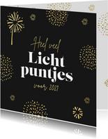Nieuwjaarskaart lichtpuntjes 2021 vuurwerk