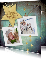 Nieuwjaarskaart met sterlabel