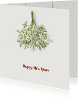 Nieuwjaarskaart Mistletoe