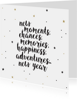 Nieuwjaarskaart - new moments new adventures