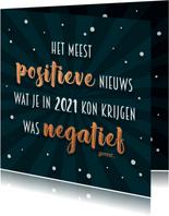 Nieuwjaarskaart positief negatief 2021 - 2022
