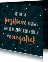 Nieuwjaarskaart positief nieuws 2020 - 21
