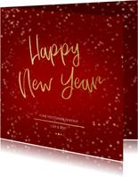 Nieuwjaarskaart rood en goud