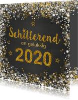 Nieuwjaarskaart stijlvolle kaart met een schitterend 2020