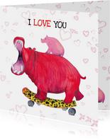 Nijlpaard is verliefd