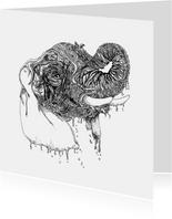 Olifant illustratie zwart-wit