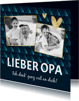 Opa-Grußkarte mit Herzen eigenen Fotos