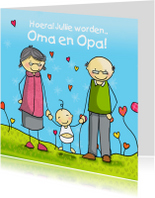 Opa Oma felicitatie Anet Illustraties