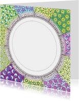 Zomaar kaarten - Open Zentangle kaart