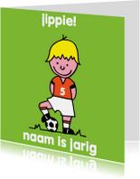 oranje voetbal leeftijd jongen