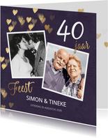 Originele uitnodiging huwelijk jubileum 40 jaar
