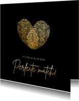 Originele valentijnskaart man - hart van vingerafdrukken