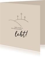 Ostergrußkarte christlich 'Mein Erlöser lebt'