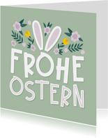 Osterkarte Frohe Ostern Hasenohren