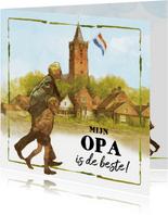 Oudhollandse kaart voor de beste opa