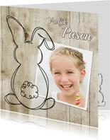 Paashaas doodle en foto