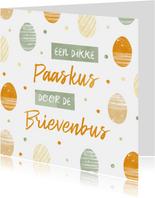 Paaskaart corona - paaskus door de brievenbus