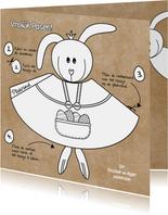 Paaskaart DIY hippe knutselkaart