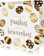 Paaskaart met paaseitjes - een paaskus door de brievenbus