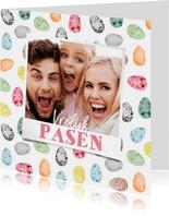 Paaskaart paaseitjes vrolijk foto vrolijk pasen