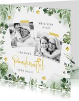 Paaskaartje paasknuffel lente bloemen foto's opa oma