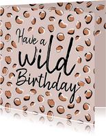 Verjaardagskaarten - Panterprint verjaardagskaart