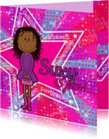 PARTY GIRLS  DISCO roze meisje