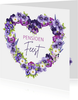 Pensioen feest viooltjes