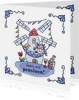 Pensioenkaart holland vrouw in hangmat