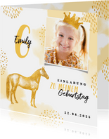 Pferde-Einladung Kindergeburtstag eigenes Foto