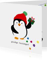 Pinguïn gezellige feestdagen - christmas cuties - kerstkaart
