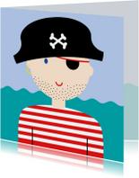 Piraat met stoere stoppelbaard