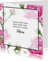 Positieve Kaart Met Roze Rozen