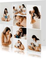 Quadratische Fotokarte acht Fotos