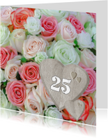 Romantische rozen met hart