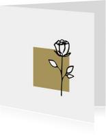 Rouw roos zwart wit goudbruin