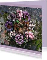 Rouwkaarten - Rouwkaart Bloemen van keramiek